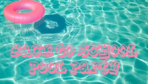 back to school pool party logo